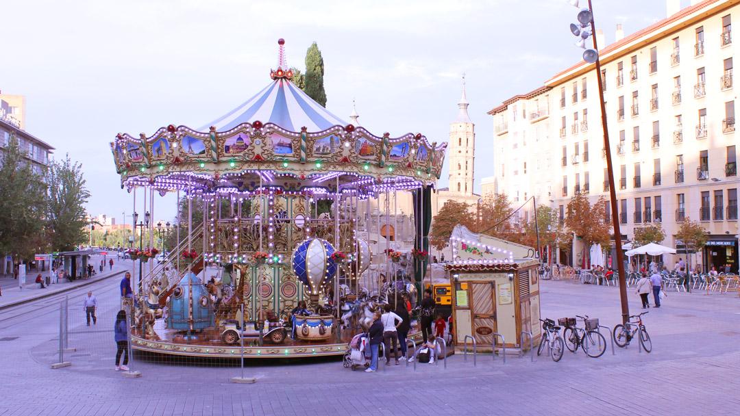¡Volvemos! Carrusel 2 pisos en plaza Cesaraugusto del 18 de octubre al 7 de noviembre